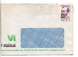 ANDORRE SEUL SUR LETTRE POUR LA FRANCE 1985 - Cartas