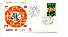 ANDORRE FDC 1972 EUROPA - Cartas