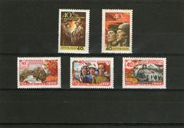 CCCP/URSS/RUSSIE/RUSSIA/ZSRR 1958** MI.2053-57**,ZAG.2121-25,YVERT... - Unused Stamps