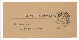 Bande Journal Avec Cachet JOURNAUX P.P. MONTE CARLO 1898, Superbe Et Rare, Voir Photo - Storia Postale