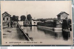CPA - SAINT-QUENTIN - Les Écluses Du Canal - Animée - Saint Quentin