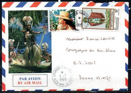 POLYNESIE. Belle Enveloppe Illustrée Ayant Circulé En 1985. Oblitération Des Îles Sous Le Vent. - Briefe U. Dokumente
