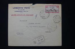 EGYPTE - Enveloppe En Recommandé De Alexandrie Pour Paris En 1939 Avec Cachet De Censure - L 89460 - Briefe U. Dokumente