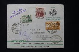 EGYPTE - Enveloppe Commerciale En Recommandé Du Caire Pour Paris En 1953 Avec Cachet De Censure - L 89461 - Briefe U. Dokumente