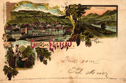 Eglisau, Farb-Litho, 1898 Nach Seebach Versandt - ZH Zurich