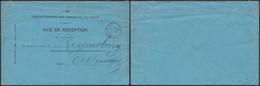 Avis De Réception - Service International (n°398) Expédié De Roulers (1911) > Regensburg (Allemagne) - Postdokumente
