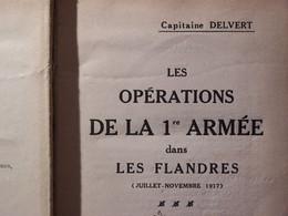 """WW1 LIVRE RARE  """" LES OPERATIONS DE LA 1ère ARMEE DANS LES FLANDRES """" ( 4e CA, 124 DI, 101 RI ) - 1914-18"""