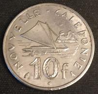 NOUVELLE CALEDONIE - 10 FRANCS 1972 - Avec IEOM - KM 11 - Pirogue à Balancier De L'île Des Pins - New Caledonia