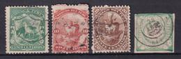 PEROU - 1866/68 - YVERT N° 10/13 OBLITERES - COTE = 15 EUR. - Perú