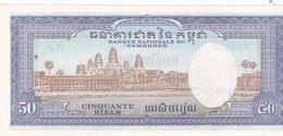 1 Billet  De La Banque Nationale Du Cambodge: 50 Riels  Neuf - Kambodscha