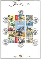 First Day Sheet 3334/3345 MOTOCROSS Championship 2004 - Cartas