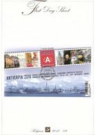 First Day Sheet Blok 181 ANTVERPIA 2010  (Rubens..) - Cartas
