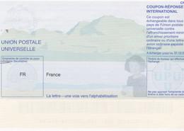 France - Coupon Réponse International CN1 - Valable Jusqu'en 2006 - La Lettre - Une Voie Vers L'alphabétisation - Coupons-réponse
