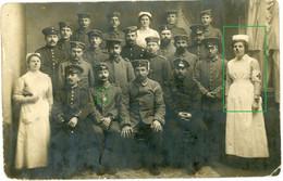 14-18.WWI Fotokarte- Deutsche Soldaten . Militsch Breslau Polen Milicz . Lazarett Krankenschwester - Guerra 1914-18
