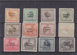 Ruanda Urundi - COB 50 / 61 * - Valeur 45 Euros - 56 Aminci = Valeur 0,25 € - 1948-61: Neufs