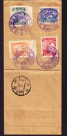1935 Gefalteter Brief Mit Serie Kaiserbesuch, Sonderstempel Und 2 China Stempel. - 1932-45 Manchuria (Manchukuo)