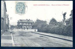 Cpa Du 27 Pont Audemer Route De Lisieux Et Monument     NOV20-78 - Pont Audemer