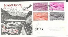 Kingdom Morocco 1956 FDC Airmail - Spanish Morocco