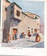 TUNISIE - TUNIS / UNE RUE / ILLUSTRATEUR / EDITEUR D AMICO / PRECURSEUR - Tunesië