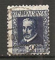 ESP 1935- Yv. N°  536 (o) 50c Lope De Vega Cote  4  Euro BE - 1931-50 Usados