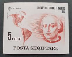 "Albanien 1992, Block 97  Europa CEPT 1992 MNH Postfrisch ""Kolumbus"" - Albania"