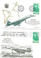 Cayenne Rochambeau 1971 - 1ère Liaison Concorde 001 En Amérique Latine - Guyane - Vers Rio Et Retour - 2 Plis - Covers & Documents