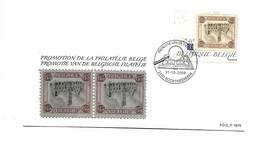FDC P1674  3980  Omgekeerde Dendermonde Renversé - Cartas