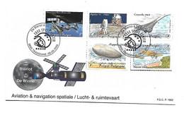 FDC P1662  3916/3950  Blériot   Aviation/Space - Cartas