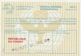 Congo Brazzaville - Coupon Réponse International CN 01 (ancien C22) - Pointe Noire RP Non échangé - Sin Clasificación