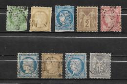Lot De 9 Timbres Français Anciens ( Avant 1900 )  Avec Défauts - Ohne Zuordnung