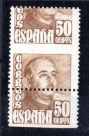 Sello Nº 1022dh España - Variétés & Curiosités