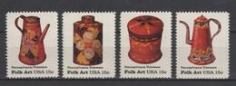 (S1115) USA, 1979 (American Folk Art). Complete Set. Mi ## 1378-1381. MLH* - Nuevos
