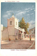TUNISIE - TUNIS / PLACE HALFAOUINE /  ILLUSTRATEUR / EDITEUR D AMICO / PRECURSEUR - Tunesië