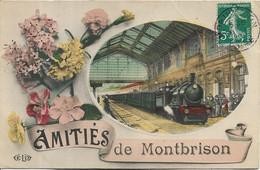 AMITIES DE MONTBRISON.Gare Train (voir état) - Montbrison