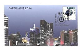 FDC P1782 N°4405 EARTH PLANET 2014 - Cartas