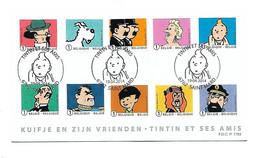 FDC P1783 TINTIN/KUIFJE & Friends - Cartas