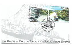 FDC P1788 N°4425/26  PANAMA CANAL 1914-2014 - Cartas