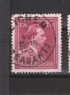 COB 832 Centraal Gestempeld Oblitération Centrale ZICHEM (BRABANT) - 1936-1957 Col Ouvert