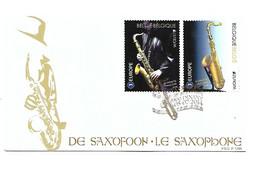 FDC P1789  N°4427/28  SAXOPHONE    SAXOFOON - Cartas