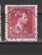 COB 832 Centraal Gestempeld Oblitération Centrale HERENT - 1936-1957 Col Ouvert