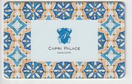 ITALIA  KEY HOTEL   Capri Palace -  Anacapri - Cartes D'hotel