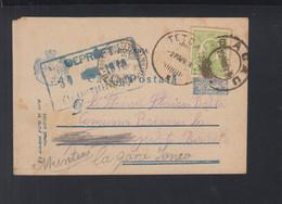 Rumänien Romania PK 1918 Bacau Nach Perisoru Ianca Muntenia Zensur - 1. Weltkrieg (Briefe)