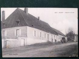 58 , Aunay ,la Mairie Et L'école En 1916.  .scan Recto  Verso - Otros Municipios