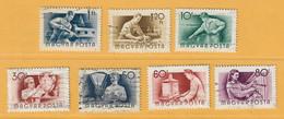 Timbre Hongrie N° 1168 - 1169 - 1159 - 1162 - 1164 - 1165 - 1167 - Usati
