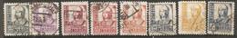 ESP 1937- Yv. N° 580A à 586, 587   (o)  Série Isabelle    Cote  1,65 Euro  BE - 1931-50 Usados