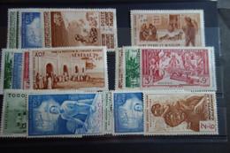 10 Séries De 1942* Mh - 1942 Protection De L'Enfance Indigène & Quinzaine Impériale (PEIQI)