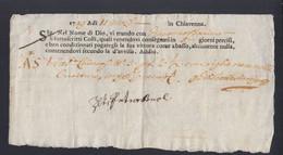 Italien Italia Chiavenna 1749 - 1. ...-1850 Vorphilatelie