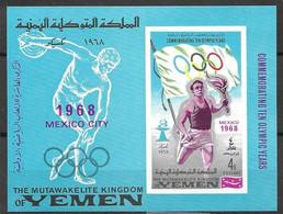 Yemen Kingdom 1968 Olympics Mexico Mint Never Hinged ** 10 Euros - Yemen