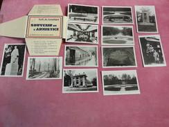 12 Photos 60 Oise SOUVENIR DE L'ARMISTICE Forêt De Compiègne Foch Wagon Monument Du Matin Chefs Alliés Guerre 1914.18 - Oorlog, Militair