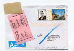 Enveloppe Mailed 12/10/20 To Artigas Base Antarctica - Returned 22/2/21 - Yellow Sticker 24/12/20 RTS - Via UK - Cartas